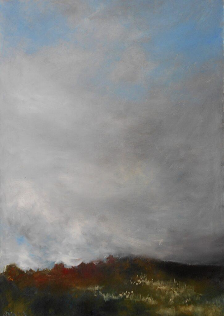 15.Landscape, 70x100cm, oil colour on paper, 2020