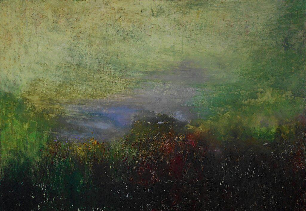 23.Springtime, 100x70cm, oil pastel on paper, 2018