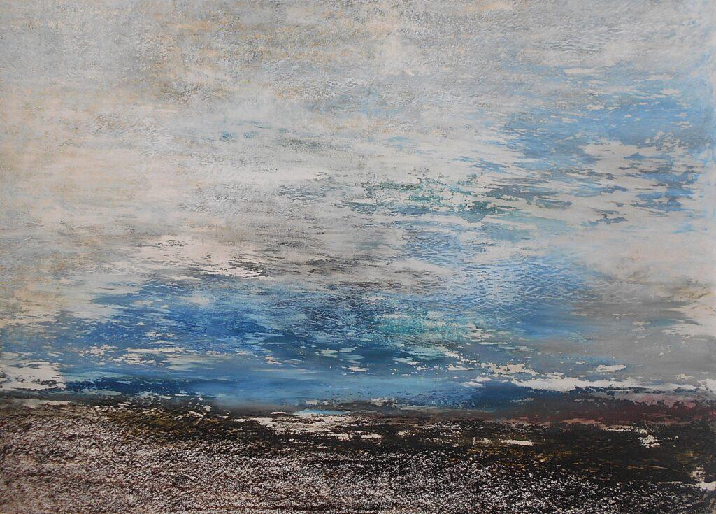 24.Sea landscape, 100x70cm, oil pastel on paper