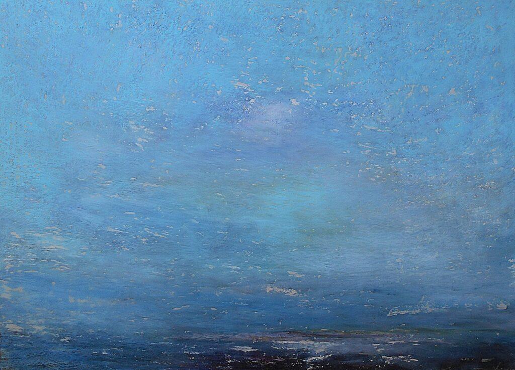 33.Landscape, 100x70cm, oil pastel on paper, 2019