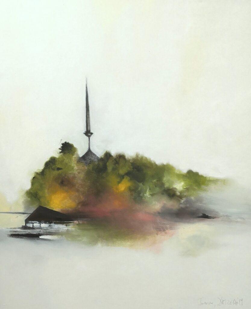 37.Ιωάννινα, 100x120cm, oil colour on canvas, 2019