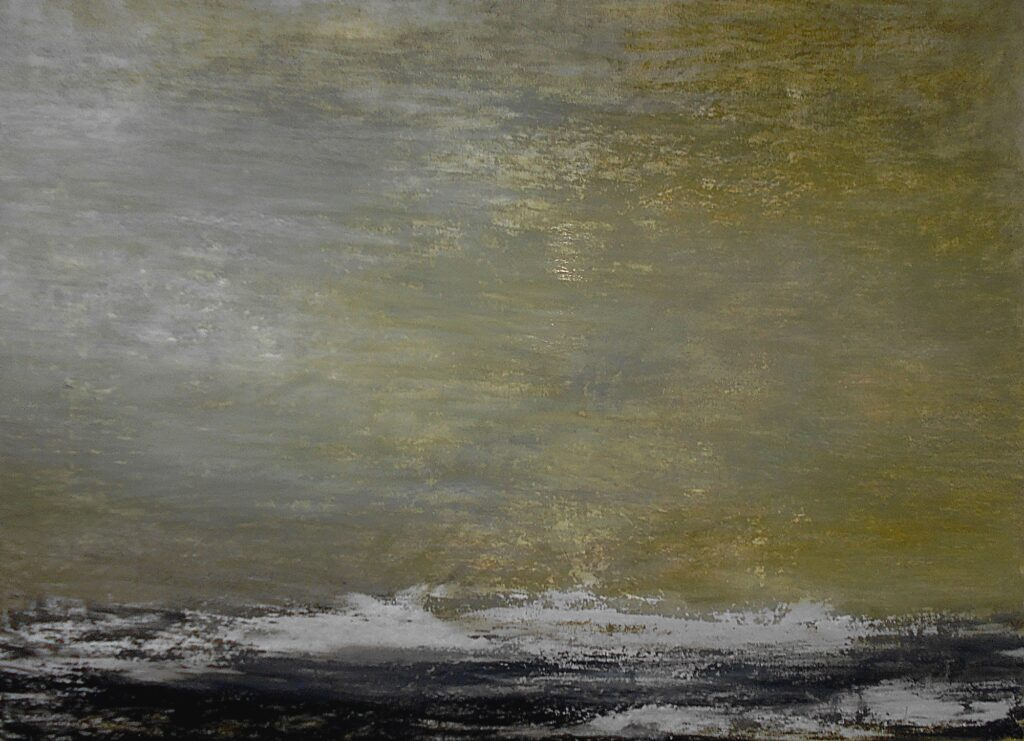 49.Landscape, 100x70cm, oil colour on paper, 2019