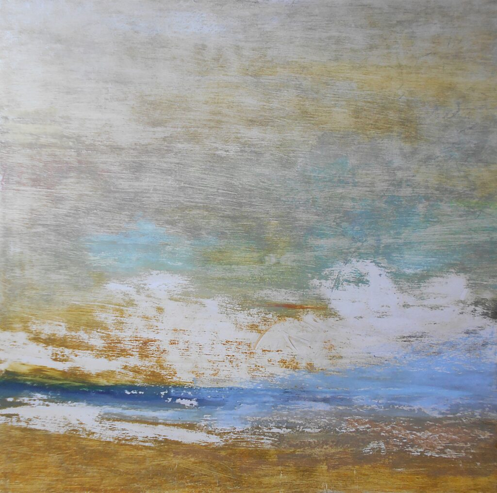 51.Landscape, 70x70cm, oil colour on paper, 2019