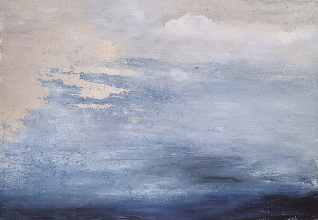 59.. Landscape, 100x70, oil colour on paper, 2019