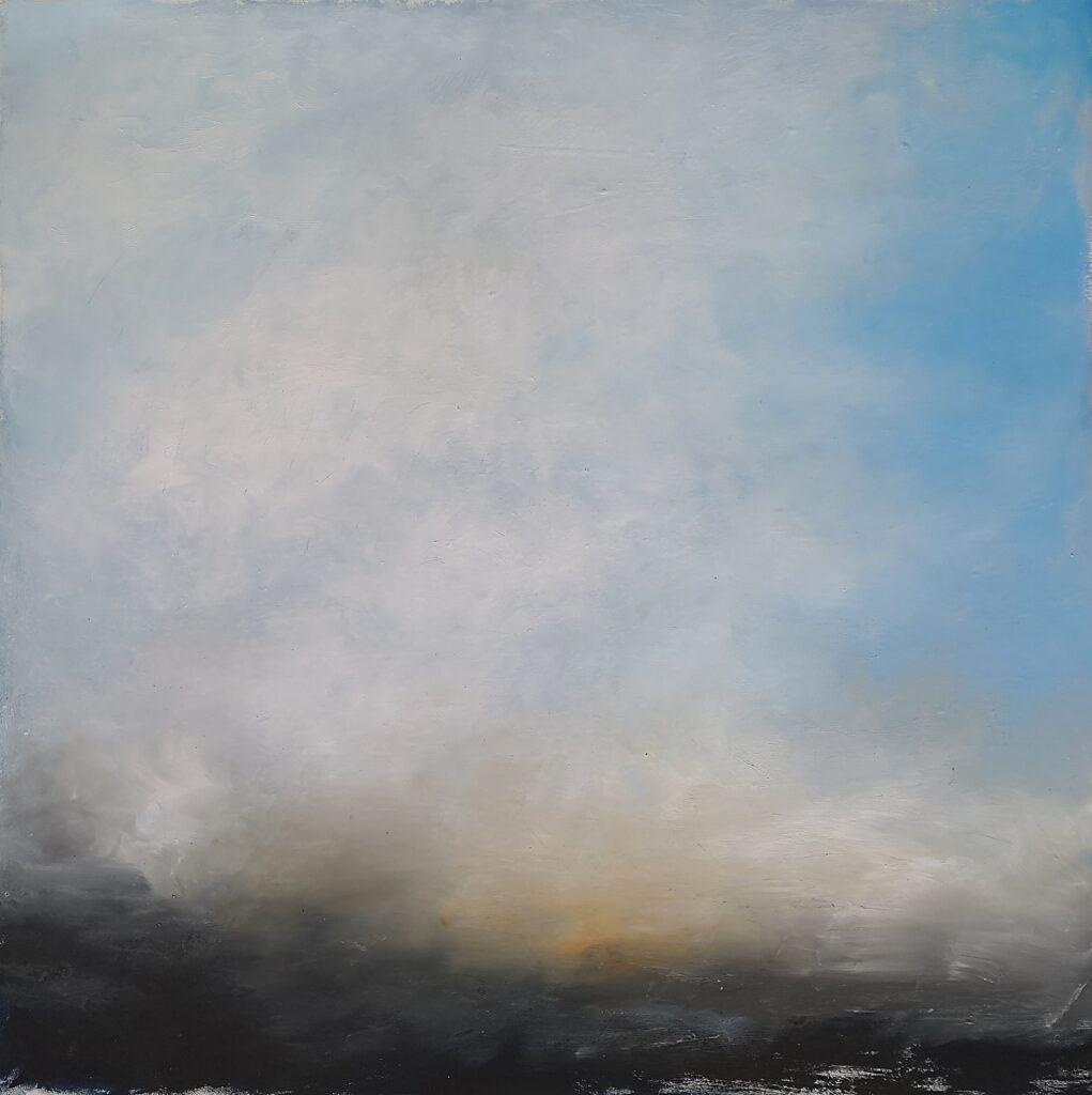 61. Landscape, 70x7cm, oil colour on paper,2020