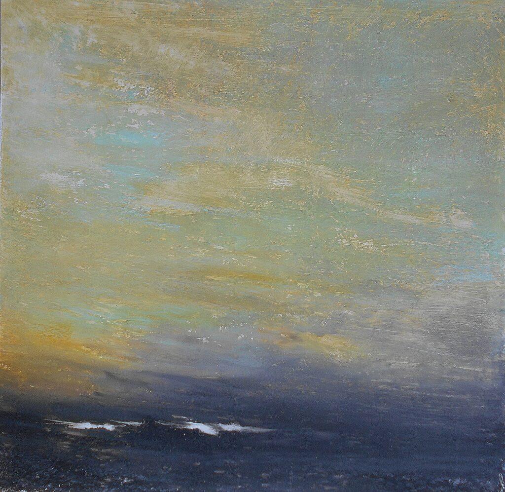 64.Landscape, 70x70, oil pastel on paper, 2019