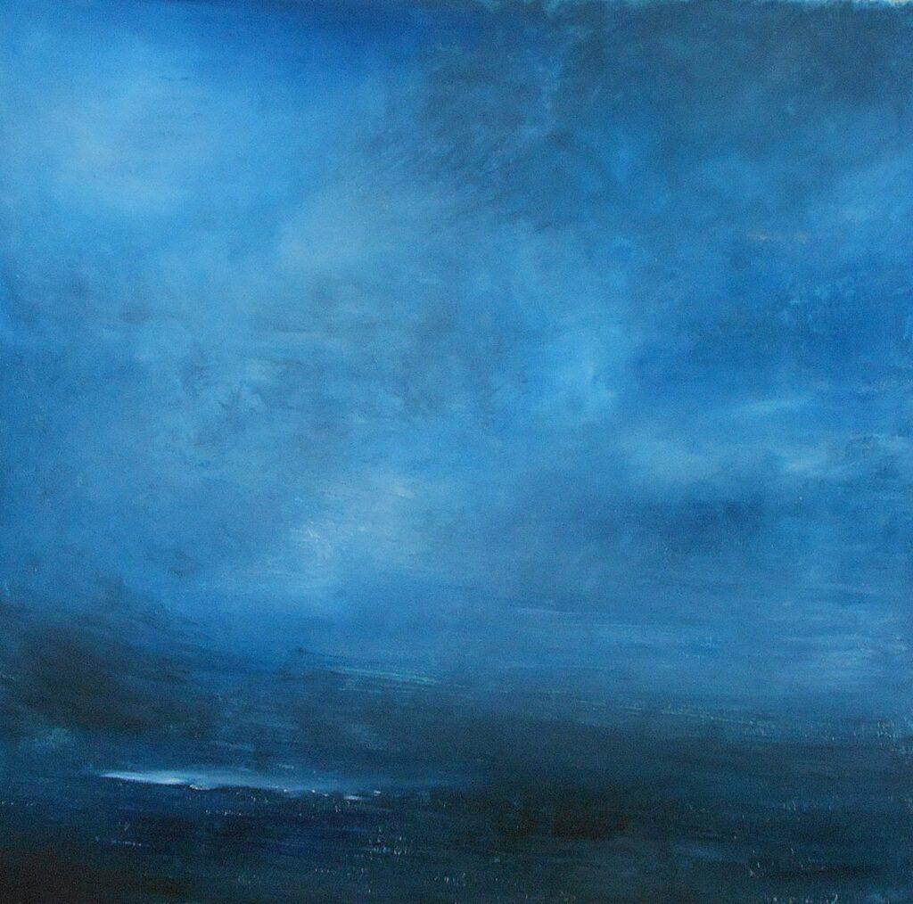 69.Landscape, 70x70cm, oil colour on paper, 2020
