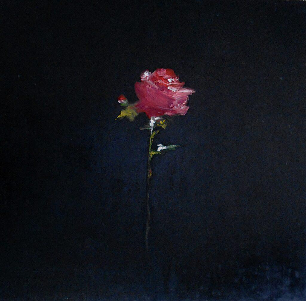 22.Rose, 70x70cm, oilcolour on paper, 2029