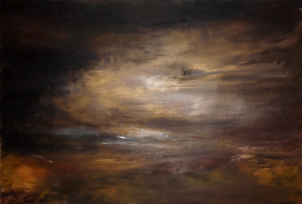 8.Landscape, 100x70, oil colour on paper, 2020
