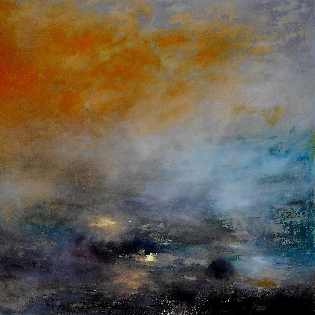9.Landscape, 70x70, oil colour on paper, 2020