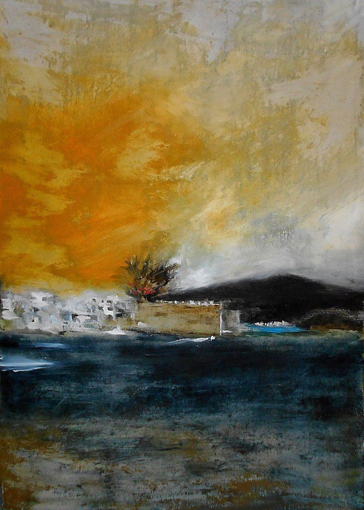 Ierapetra, 70x100, oil colour on paper, 2020.