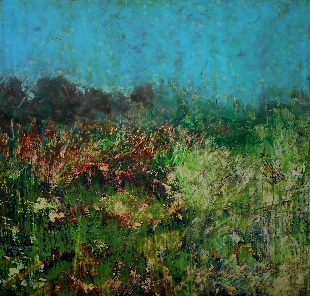 7.Spring,35x35,oilpastel on paper,2015